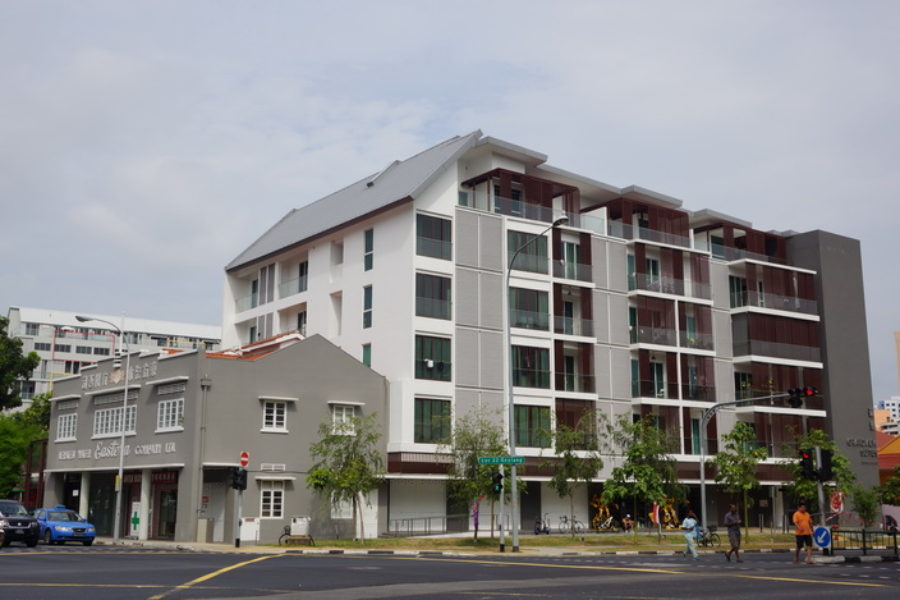 Grandview Condominium with Conservation of Shophouses at Geylang, Singapore